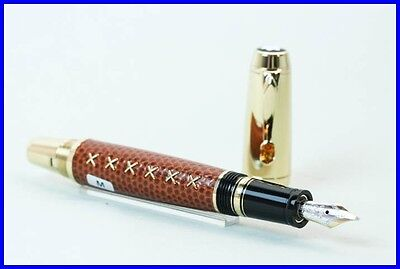 Montblanc Boheme Jewels Citrin Brown SHARK Leather Fountain Pen 18K Gold M Nib