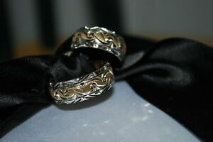14K Wedding Bands (Solid Gold and White Gold Elegant Desig) Kingston Kingston Area image 1