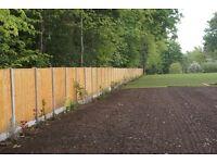 Fencing, Garden Fencing, Brick Walls, All Garden Services - Grass Cutting, Bush Removal, Garden Tidy