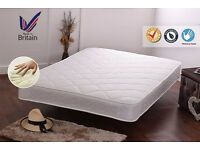 King-Size Luxury Soft-Touch Cooling Memory Foam Sprung Mattress