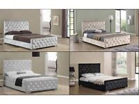 MAKE CALL & BOOKED YOUR ORDER NOW FULLY CRUSH VELVET CHESTERFIELD DOUBLE & KING SIZE BED FRAME