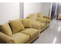 sofa bed with 2 armchairs