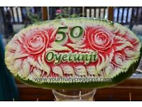 BEAUTIFUL FRESH FRUIT DISPLAYS EXCLUSIVELY HANDCRAFTED TO MAKE ANY OCCASION EXTRA SPECIAL!!!