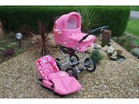 Gorgeous pink 2 in 1 Pushchair
