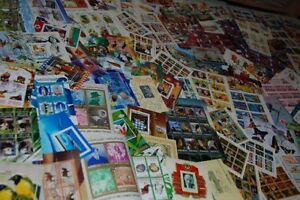 HUGE Collection Minisheets, Souvenir sheets Different MNH, CTO