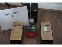 YONGNUO x 2 YN685 & YN622C-TX CANON SPEEDLITE SPEEDLIGHT FLASH GUN TRIGGERS