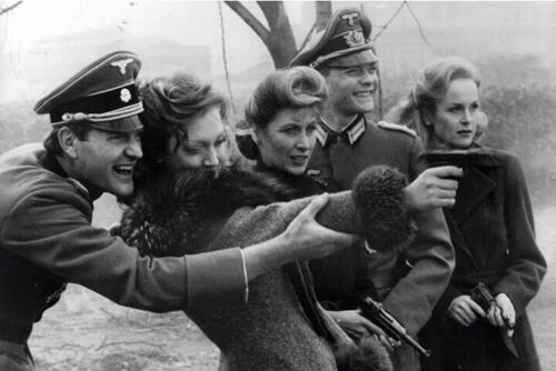 War Photo Members wehrmacht teaching women operate Walther P38 Glossy E