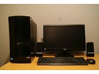 Acer Aspire M3985 Windows 10 Desktop PC, Monitor Keyboard Mouse and Speakers Included