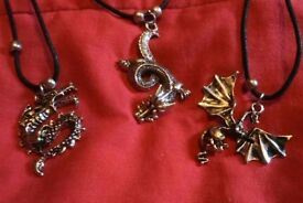 Dragon pendants on cord £4 each