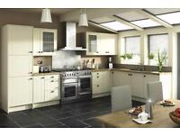 7 Piece Kitchen Units - Matt Ivory Classic - BRAND NEW