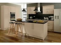 7 Piece Kitchen Units - Sand Gloss - BRAND NEW