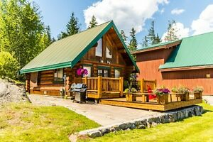HOT PRICE - WON'T LAST!  LOG HOME WITH BOAT SLIP