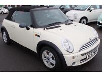 2007 Mini One Convertible 1.6 Blue 88k miles History AirCon CD Alloys HPiClear £2999 Lady owned 8yrs