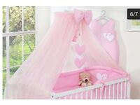 Pink cot canopy