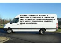 Van Removal Service £20 P/H Loading & Unloading in London and all UK include Europe