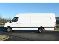 MAN WITH VAN !!! MERCEDES SPRINTER 313 LWB (LONG 4.30m , HIGH 1.95m). THE BEST SERVICE IN UK!!1