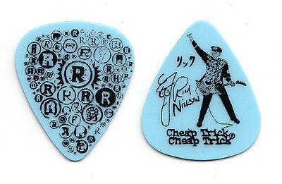 Cheap Trick Rick Nielsen Light Blue R's Guitar Pick - 2010 Tour