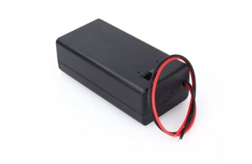 2Pcs 9V Battery Holder  Case with Wire Leads with  ON/OFF Sw
