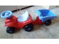 slide and car with trailer