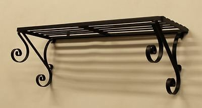 Scrolled Wrought Iron Shelf - Scrolled Wrought Iron