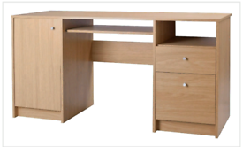 Brand new wood effect desk with storage