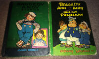 2 Vintage Raggedy Ann & Andy Story Books Hard Cover Illustrated