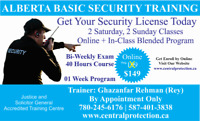 Alberta Basic Security Licence - St. Albert