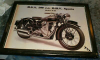 BSA Motorcycles mounted pictures - 3 different