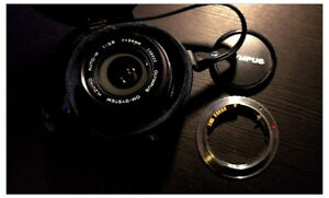 Olympus OM MF 24mm lens with adapter (Canon)
