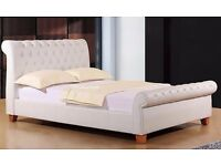 White Chesterfield King Size Bed