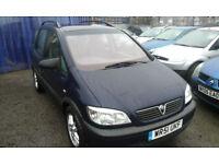 2001 Vauxhall Zafira 1.6i 16v 7 SEATER