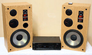 PERFECT Acoustic AUDIO HCD12 SPEAKERS w/SONY AMP SEE VIDEO