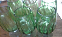 Hand Blown Mexican Glass Goblets