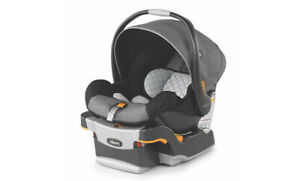 Chico Keyfit30 Infant Car Seat Great Condition + 2 Car Bases