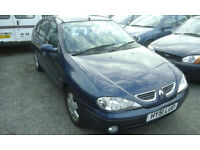 2002 Renault Megane 1.6 ( NOW £495 with CLOSE OFFERS TO CLEAR )