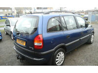 2002 Vauxhall Zafira MPV 7 SEATER 1.6i ( NOW BEST OFFERS )