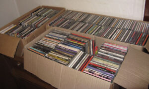 Lot of over 500 CDs for sale plus 5 DVDs