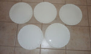 5 ceramic cake serving plates, made in Italy, $ 4ea, others