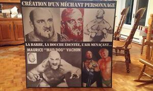 lutte Maurice Vachon ''Mad Dog ''  wwf/ wwe wrestling
