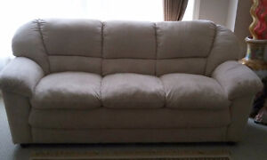 MICROSUEDE/MICROFIBRE 3 SEATER SOFA - BRAND NEW