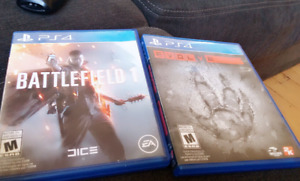 Ps4 battlefield 1 and evolve
