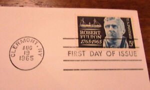 1965 Robert Fulton 5 Cent First Day Cover Kitchener / Waterloo Kitchener Area image 4