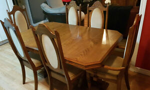 DINING ROOM SET (TABLE & CHAIRS AND CHINA CABINET)