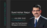 Super Visa , Travel   and Life insurance