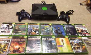 Original Xbox with 2 Controllers and 14 Games!