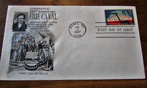 1967 150th Anniversary Erie Canal 5 Cent First Day Cover Kitchener / Waterloo Kitchener Area image 1