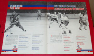 POSTER 1990 MONTREAL CANADIENS HABS HOCKEY RECORDS - CANADIANS