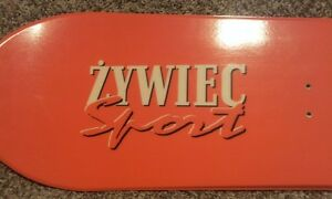 Polish beer Zywiec sport snowboard with rossignal bindings