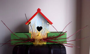Planter Birdhouse Combination : New :  Real Birdhouse .. wood