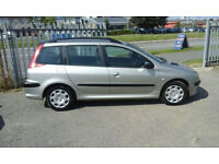2004 54 Peugeot 206 SW 1.4 cc ESTATE